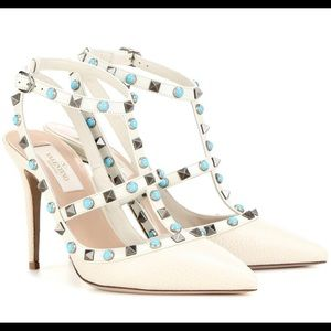 Valentino Shoes - Valentino Garavani Rockstud leather Ivory size 39